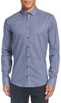 Sand Print Regular Fit Cotton Sport Shirt