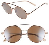 Raen Women's Scripps 55Mm Round Sunglasses - Rose Gold/ Flesh