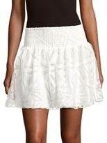 Parker Daphne Cotton-Blend Lace Skirt