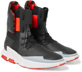Y-3 - Noci 0003 Leather-trimmed Neoprene High-top Sneakers