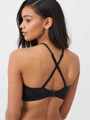 Pour Moi? Space High Neck Underwired Cami Top - Black
