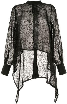 Taylor Amplitude polka-dot asymmetric shirt