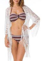 Upopby Women Lace Beachwear Cover Up Swimwear Swimsuit Bikini Kimono Cardigan XL