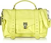 Proenza Schouler PS1 Medium Pale Citrus Lux Leather Satchel Bag