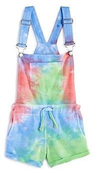 Vintage Havana Girls' Tie-Dyed Overall Shorts - Little Kid