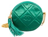 Chanel Quilted Satin Circle Bag
