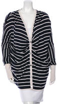 Oscar de la Renta Cashmere & Silk-Blend Striped Cardigan