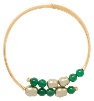 Peter Pilotto Beaded Hinged Choker Necklace - Womens - Green