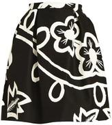 Carolina Herrera Pleated Floral Poplin Skirt