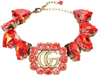 Gucci Double G crystal-embellished choker