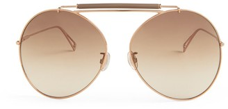 Max Mara Oversized Aviator Sunglasses