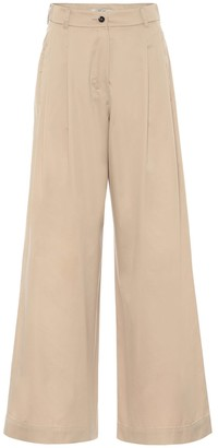 S Max Mara High-rise wide-leg cotton pants