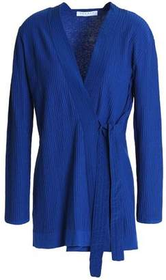 Sandro Manon Cotton, Silk And Cashmere-blend Wrap Cardigan
