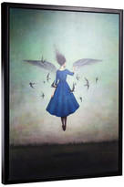 """American Art Decor """"Swift Encounter"""" by Duy Huynh Framed Canvas 40""""x30"""""""