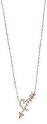 Tiffany & Co. Paloma's Graffiti heart & arrow pendant in 18k rose gold with diamonds, small