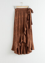 And other stories Ruffle Wrap Maxi Skirt