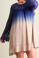 Umgee USA Blue Ombre Plus Dress