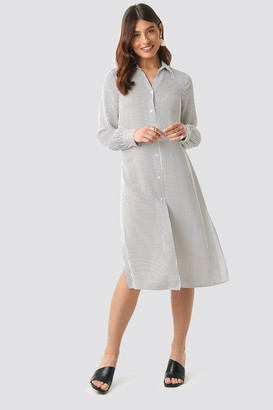 NA-KD Midi Striped Shirt Dress