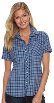 Woolrich Women's Tall Pine Seersucker Plaid Shirt