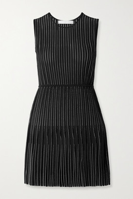 Dion Lee Knitted Mini Dress - Black