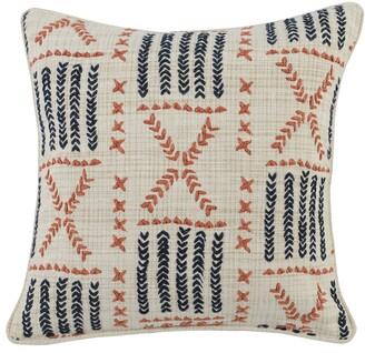Villa Home Collection Ezra Embroidered Accent Pillow