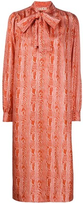 Marni Wave-Pattern Midi Dress
