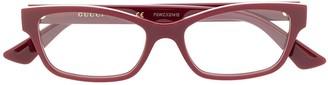 Gucci Rectangular Frame Glasses