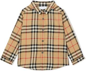 BURBERRY KIDS Vintage Check flannel shirt