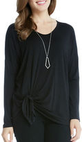 Karen Kane Long Sleeve Tie Front Top