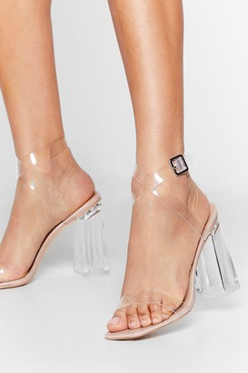 Nasty Gal Womens Let's Be Clear Patent Faux Leather Heels - Nude