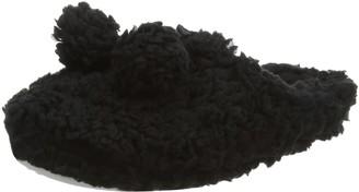 Eaze by Spot on Women's Pom Fluffy Mule Open Back Slippers