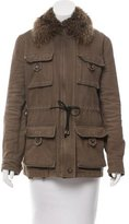 Dolce & Gabbana Fur-Trimmed Casual Jacket