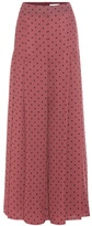 See by Chloe Pleated Polka-dot Crêpe Trousers
