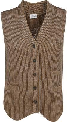 Brunello Cucinelli Buttoned V-Neck Vest