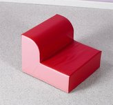 Primary Kids Library Chair Color: Red