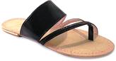 Rio Black Patent Cross-Strap Sandal