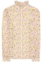 AlexaChung Floral-printed cotton shirt