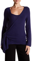 Three Dots Brushed Ballet Wrap Sweater