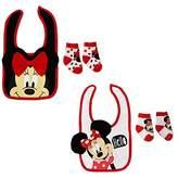 Disney Baby Girl's Minnie Mouse Cotton Dress Bib and Socks 2 Pack Bundle Set