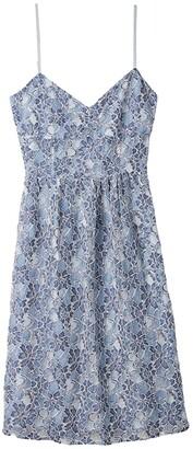 BB Dakota Two-Tone Lace Sweetheart Midi Dress (Blue) Women's Dress