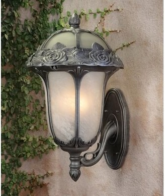Rose Garden 1-Light Outdoor Wall Lantern Special Lite Products Shade Type: Frosted