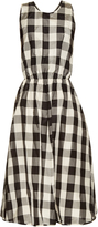 Rochas Madras checked-print silk and cotton-blend dress