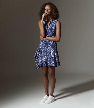 Reiss ELSIE PRINTED MINI DRESS Blue