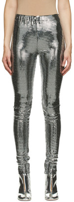 MM6 MAISON MARGIELA Silver Disco Ball Leggings