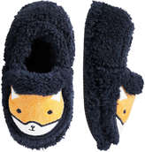 Joe Fresh Toddler Boys' Animal Face Slippers, Black (Size M)