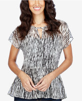 Lucky Brand Printed Peplum Top