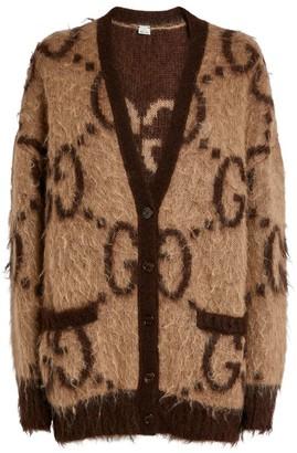 Gucci Reversible GG Supreme Oversized Cardigan