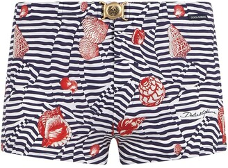 Dolce & Gabbana Shell Print Swimming Trunks
