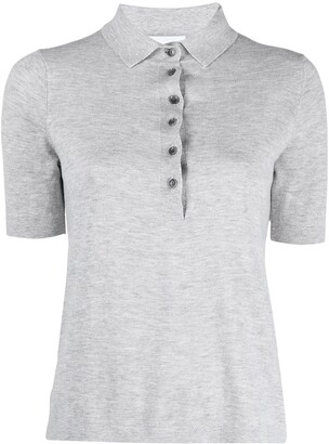 Allude Fine-Knit Polo Shirt