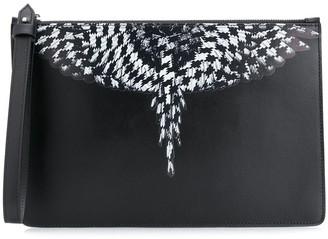 Marcelo Burlon County of Milan Cross Wings clutch bag